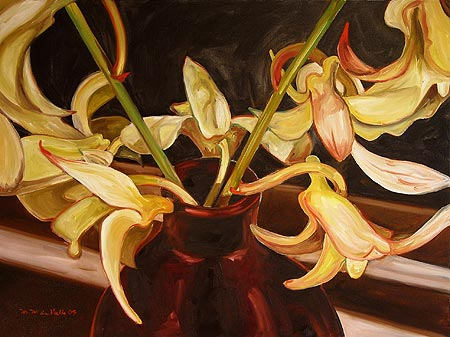 Orchids in Chocolate Vase, Finding My Way