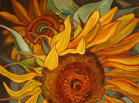 Depth of Field Sunflowers, Leaning Towards Energy