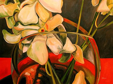 Orchids on Red, Transformation
